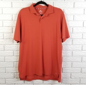 Peter Millar Seaside Wash Polo Shirt M Orange